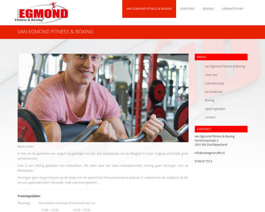 Van Egmond Fitness & Boxing Logo